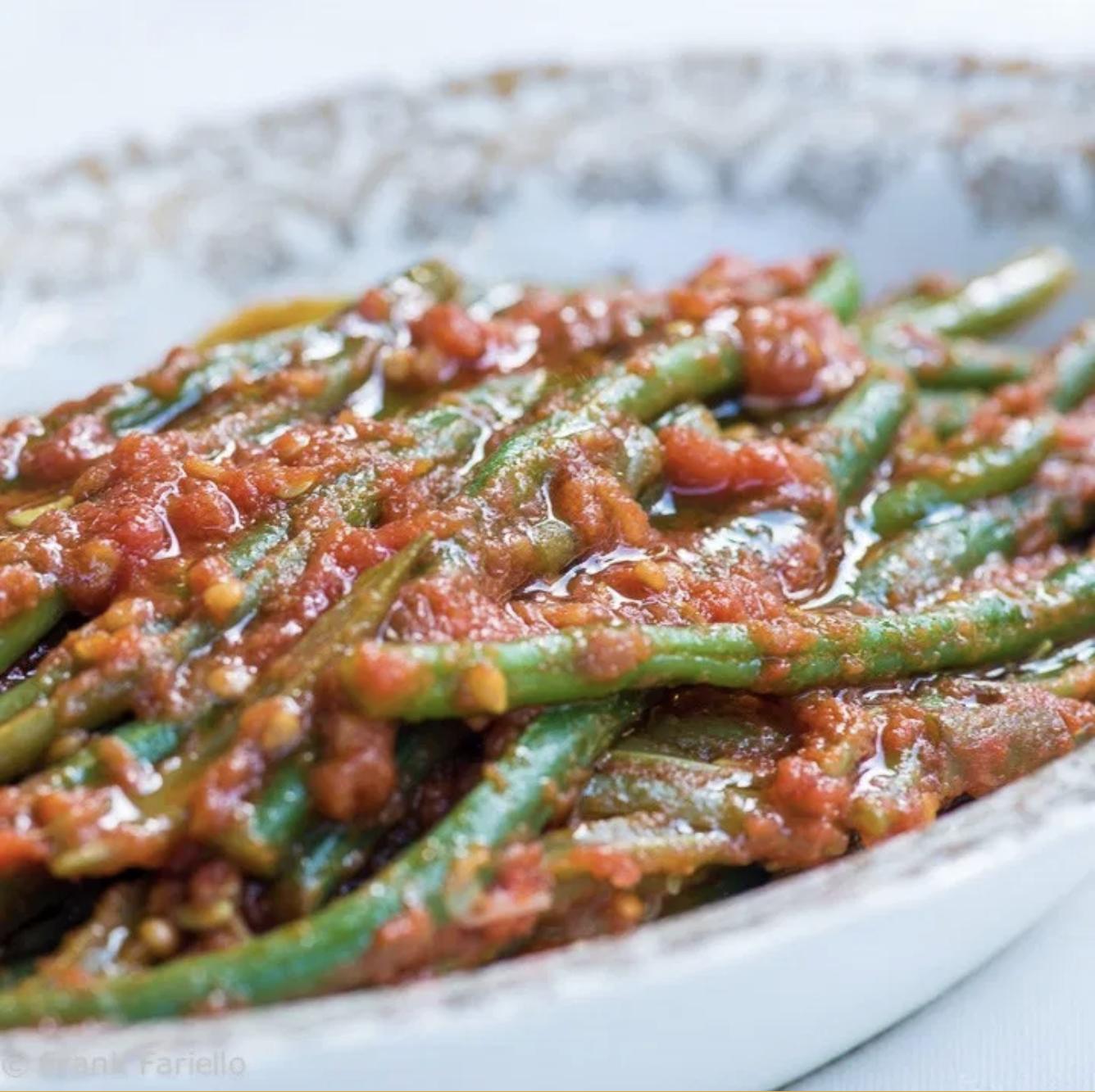 String Bean in Tomato Sauce