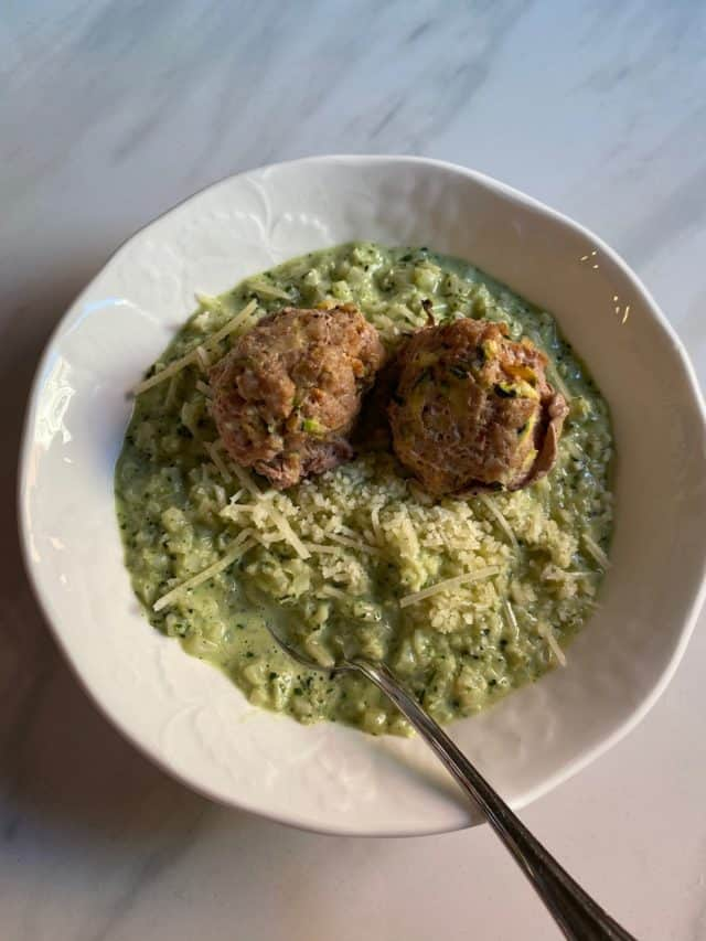 Pesto Broc w Turkey Zuc meatballs small