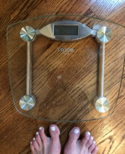 Scale and feet