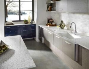 how-to-declutter-the-kitchen-to-clear-off-your-counter-Countertop-And-Island-In-Corian®-Quartz-Snowdrift